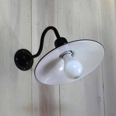 レトロブラケットライトF型 ブラックベース&ブラックシェード 防雨型 照明