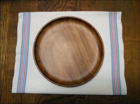 木製 アカシア プレート 丸25cm