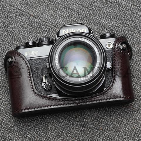 Nikon(ニコン) FM/FM2/FM3A/FE/FE2用 本革カメラケース(コーヒーブラウン)