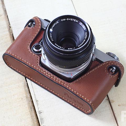 Olympus(オリンパス)OM1、2、3、4用 本革カメラケース(ブラウン )
