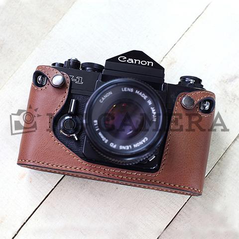 Canon(キャノン) F-1用 本革カメラケース(ブラック)