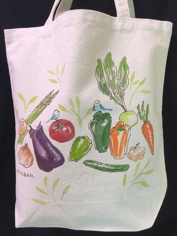 手描きトートバッグ(野菜1)