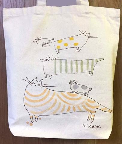 手描きトートバッグ(猫001)
