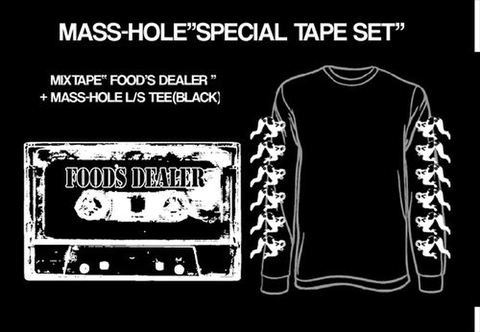 "MASS-HOLE / FOOD'S DEALER""SPECIAL BLACK SET-size L"