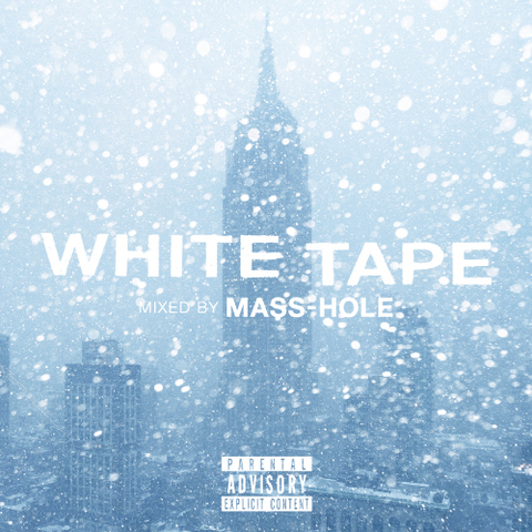 WHITE TAPE/MASS-HOLE