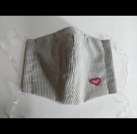 布製 立体 マスク ストライプ