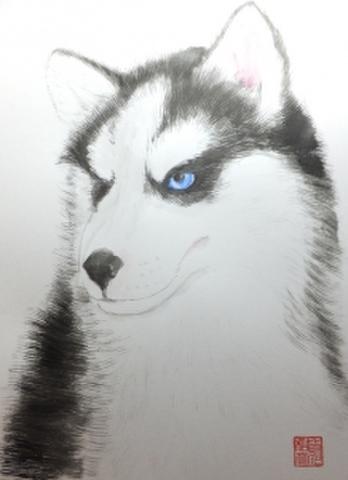 色紙に描く
