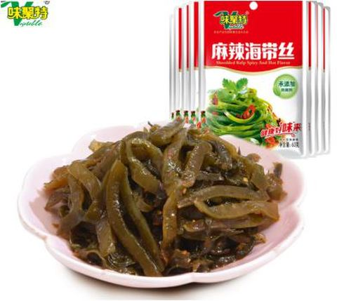 味聚特 麻辣海带丝 - 辛口ワカメ(細切り)80g