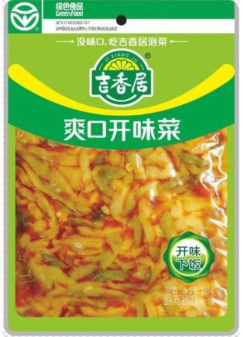 开味爽口菜 榨菜- きくらげ入り辛味つけザーサイ 180g