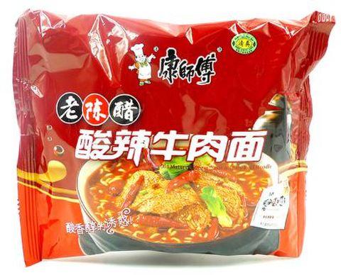 康师傅 老陈醋酸辣牛肉面 方便面- インスタントラーメン