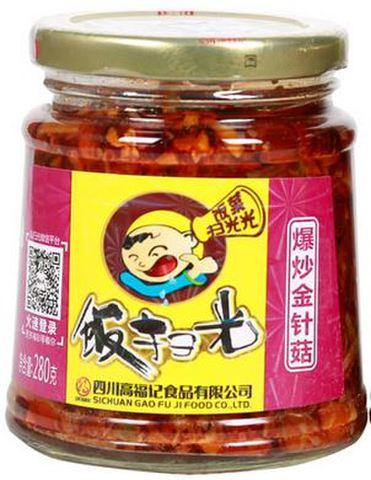 饭扫光 爆炒金针菇 280g 罐头下饭菜