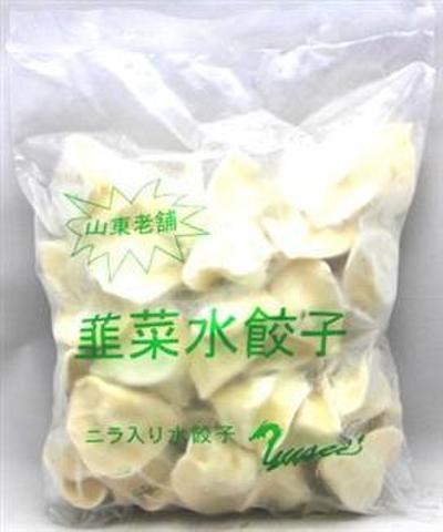 山东老铺 韭菜水饺子 - ニラ水餃子ギョーザ 1kg