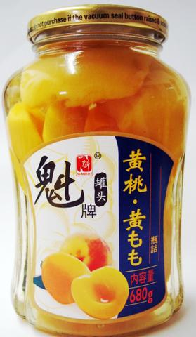 魁牌 糖水黄桃-モモのシロップ漬け 680g