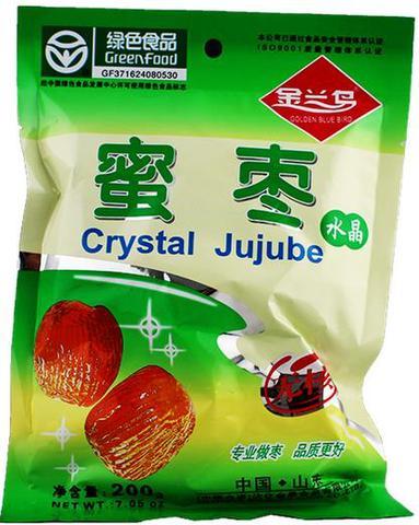 金兰鸟 水晶蜜枣 200g
