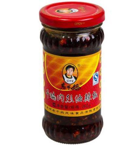 老干妈 干煸肉丝油辣椒-肉入り食べるラー油 260g
