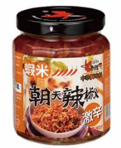 台湾虾米朝天辣椒-ニンニク入り辛しみそ  240g