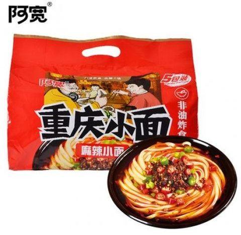阿宽重庆小面麻辣面方便速食5连包 方便面- インスタントラーメン