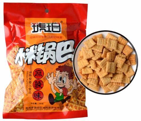 琥珀 锅巴 麻辣味 - 100g 怀旧零食儿时的味道