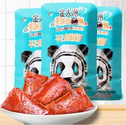 金大洲 不长肉的菇肉 香辣味 网红小零食- マーラーシイタケ 90g 辣条辣片