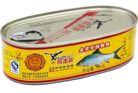 鹰金钱金奖 豆豉鲮鱼罐头-豆鼓ウグイの缶詰 184g