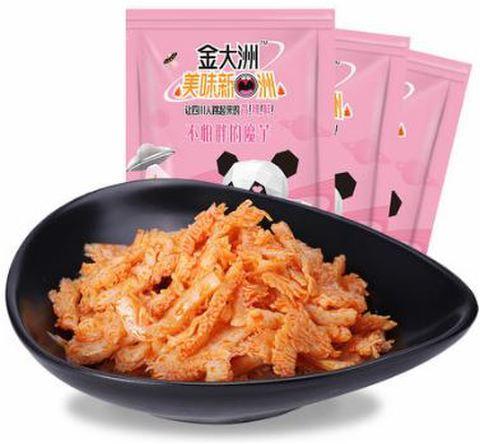 金大洲 不怕胖的魔芋 香辣味 网红小零食- マーラーこんにゃく 96g 辣条辣片