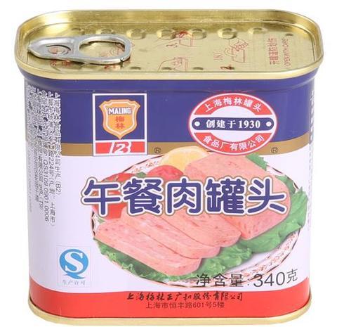 梅林 午餐肉 - 中華ハム 340g