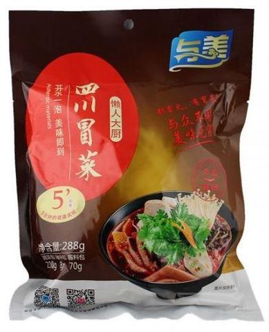 懒人大厨 四川冒菜  麻辣味- 具だくさんスープ春雨 288g袋装