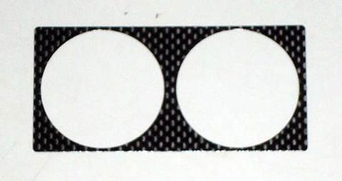 デルタEVO用(油温計)ドライカーボンメーターパネル