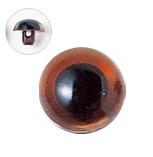 12mm  プラスチックアイ クリスタルカラー  クリスタルブラウン
