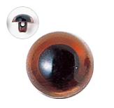 15mm  プラスチックアイ クリスタルカラー  クリスタルブラウン