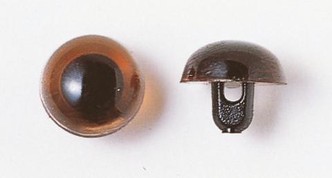 10.5mm  プラスチックアイ クリスタルカラー  クリスタルブラウン