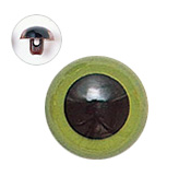 15mm  プラスチックアイ マットカラー  グリーン