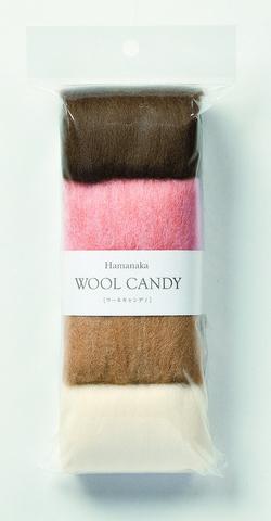 ハマナカ ウールキャンディ4色セット フェルトドッグカラー