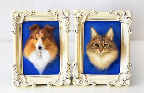 オーダーメイド「犬と猫の肖像」きりのみりい完全オリジナル