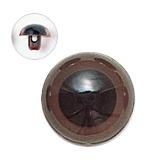 15mm  プラスチックアイ マットカラー  ダークブラウン
