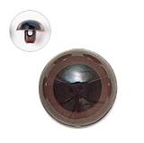 13.5mm  プラスチックアイ マットカラー  ダークブラウン