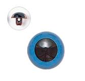 9mm  プラスチックアイ マットカラー  ブルー