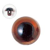 13.5mm  プラスチックアイ クリスタルカラー  クリスタルブラウン