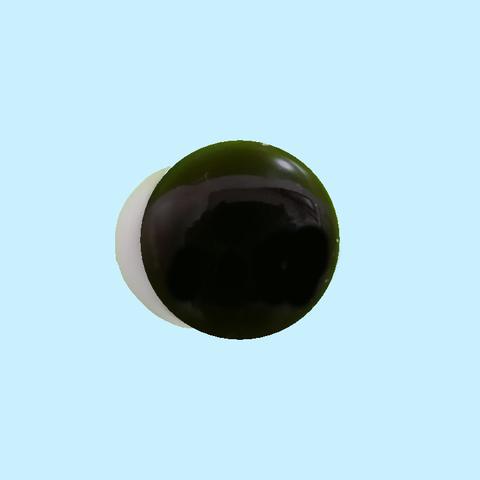 16mm  ぬいぐるみアイ ダークブラウンクリア(白目付)