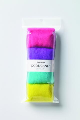 ハマナカ ウールキャンディ4色セット ティーンカラー