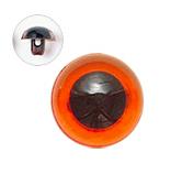 12mm  プラスチックアイ クリスタルカラー  クリスタルアンバー