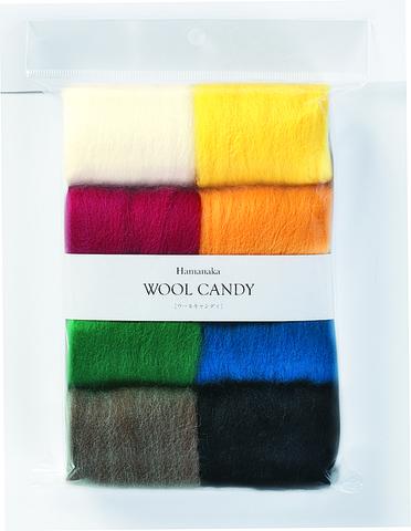 ハマナカ フェルト羊毛8色セット ウールキャンディ[クリスマスカラー]