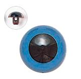 15mm  プラスチックアイ マットカラー  ブルー