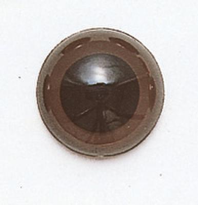 10.5mm  プラスチックアイ マットカラー  ダークブラウン