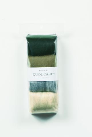ハマナカ ウールキャンディ4色セット ダークグレイッシュ