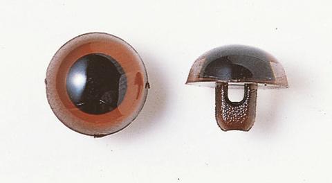 10.5mm  プラスチックアイ マットカラー   ライトブラウン