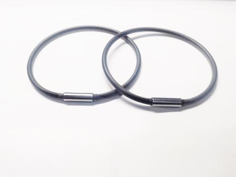 健康リング(足首用シリコン製リング)黒