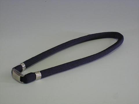 首用布製ネックレス・脱着器付 (紺)