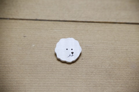 ビションフリーゼブローチ 木工5