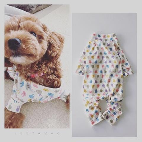 犬服型紙 ニットロンパース dog-5